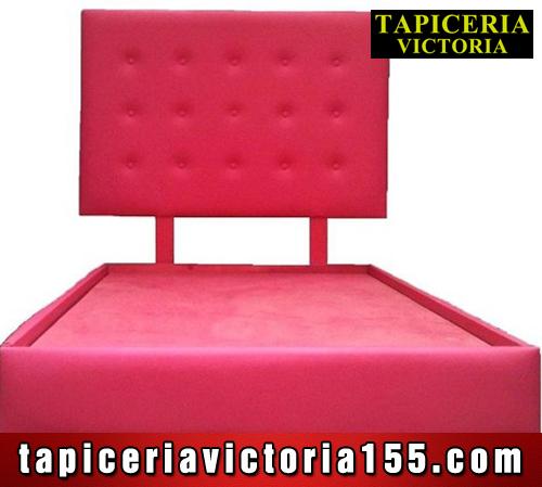 Cabecera roja con jalones y base tapizada – Tapiceria Victoria ...